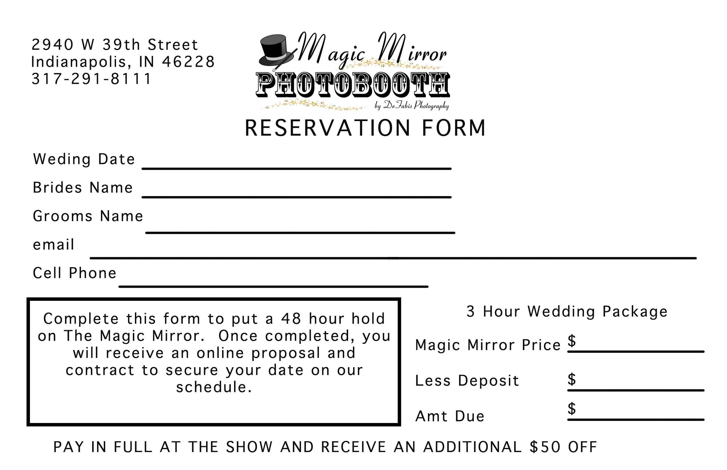 Magic Mirror Bridal Show Handouts Mirror Photo Booth Of Indianapolis
